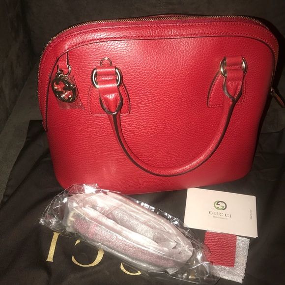 1f7c446e97d5 Gucci Bags   Dome Md Convertible Gg Charm Leather Satchel   Poshmark